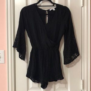 Abercrombie & Fitch Lace V-neck Romper